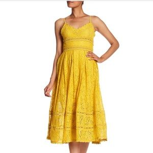 NSR yellow lace dress